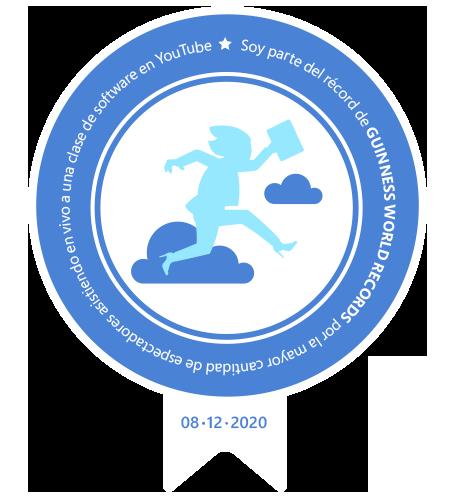"""Badge de participación del evento """"Asegura tu lugar en la nube"""""""